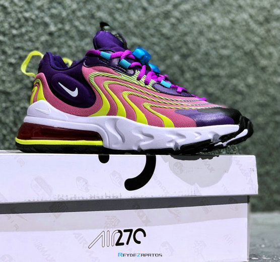 Reydezapatos Nike Air Max 270 React ENG Eggplant Magic 4513