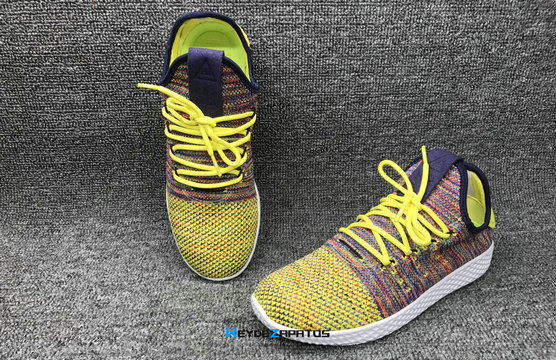 "Reydezapatos 0219 - Pharrell Williams x adidas Tennis HU ""Multi-Color"""
