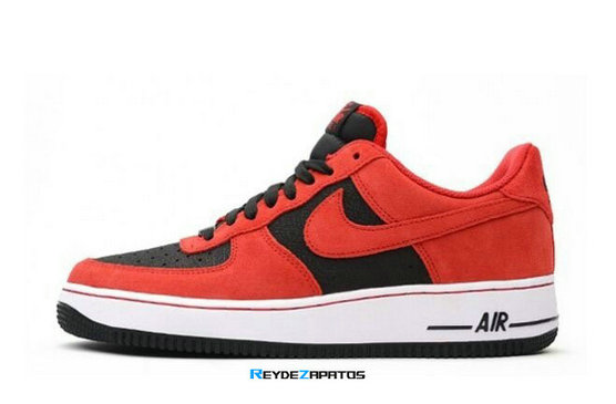 Reydezapatos 3275 - Air Force 1 Low Negro/Rojo